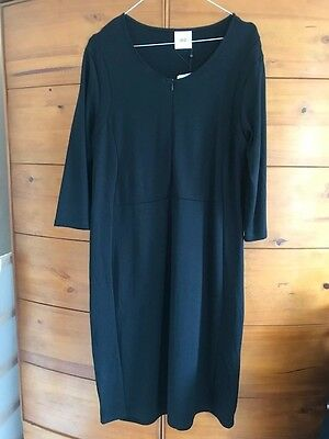 Mamalicious black nursing maternity 3/4 jersey dress XL (14-16) BNWT