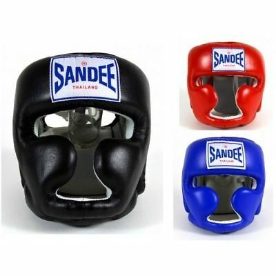 Sandee Head Guard Closed Face Adult Kids Muay Thai Boxing MMA Black Blue Red