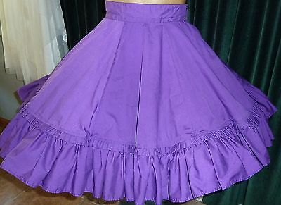 """Lizzie's Square Dance Sale-#31 Malco Modes Skirt - Small W 26""""-28"""" Side Snap"""