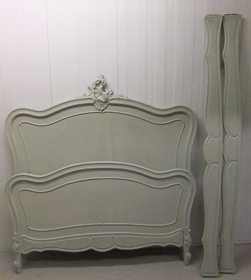 French Antique Bed ~ Duck Egg Blue Antique French Double Bed  / Bedframe