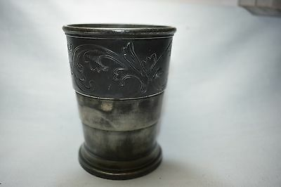 Telescoping Cup Quadrupleplate & Engraved, made by Derby Silver CT.