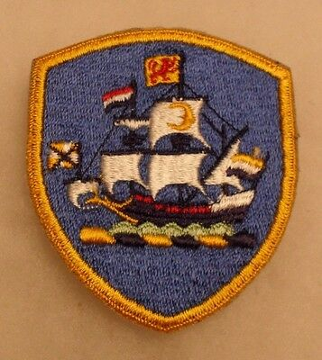 50/60's Old Ny Guard Patch Gold Border Variant Obsolete Design