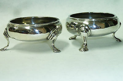 Antique Pair George III Solid Silver Salt Bowls - Hallmarked London 1768 - 75g