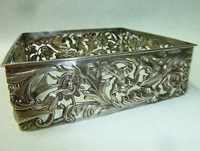 Antique Solid Silver Jewellery Box Surround Hallmarked London 1896 - 95g