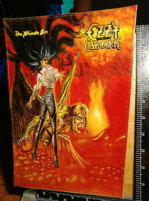custom tooled veg tanned leather art patches ozzy osbourne ultimate sin sabbath