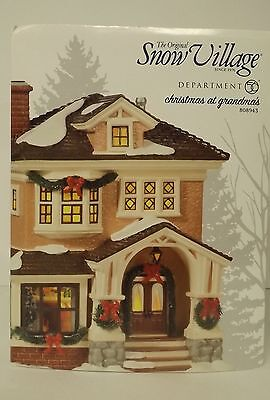 Dept 56 Snow Village Christmas At Grandma's Lighted Building 808943 New MIB
