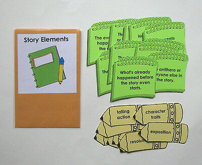 Teacher Made Literacy Center Learning Resource Game Upper Level Story Elements