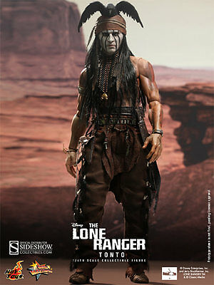 """Sideshow Hot Toys 1/6 Scale 12"""" The Lone Ranger Tonto Action Figure New"""