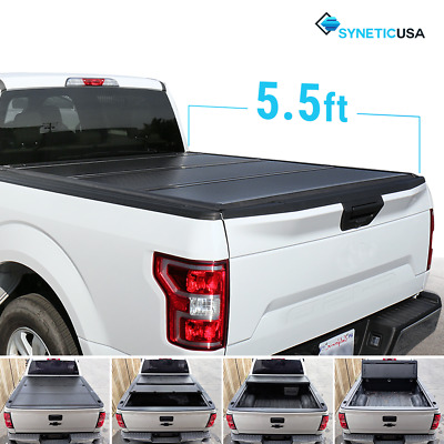 2004-2017 Ford F-150 Lock Hard Solid Tri-Fold Tonneau Cover 5.5ft Short Bed