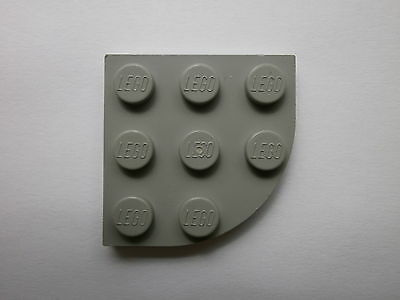 LEGO Lot of 4 Light Gray 3x3 Rounded Corner Flat Building Plate Pieces