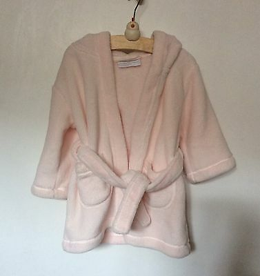 The Little White Company Baby Girl Bath Robe/ Dressing Gown 12-18 Months