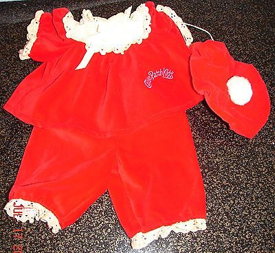 Vintage Cabbage Patch Kid Doll Bright Red Outfit