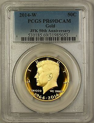 2014-W Special Issue Gold Proof Kennedy Half Dollar 50c Coin PCGS PR-69 DCAM