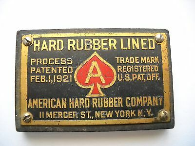 Old Advertising Paperweight - American Hard Rubber Co. - Ny