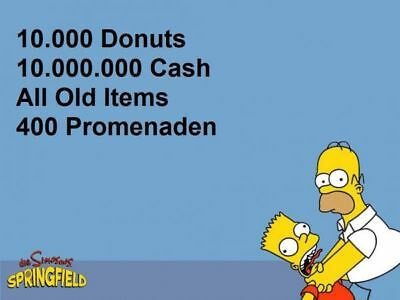 Die Simpsons:Springfield Tapped Out Spiele App - 10.000 Donuts
