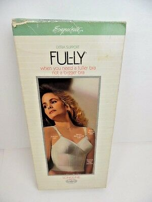 Vintage Ful-ly Extra Support Longline Corset Bra ~ White ~ 36B