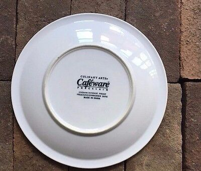 """1 Culinary Arts Cafeware Porcelain Dinner Plate  10"""""""