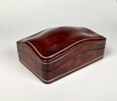 Vintage Antique Italian Tuscan Red Leather Box