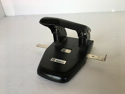 """Acco Mutual 50 Paper Hole Punch Three-Quarter"""" Hole Standards Black Silver"""