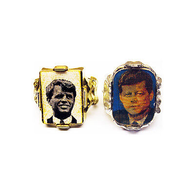 1960's Robert & John Kennedy Gumball Prize Memorial Toy Rings