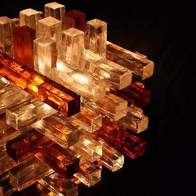 1970s Italian Glass Cube Lamp By Poliarte
