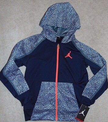 ~NWT Boys NIKE JORDAN Zip-Up Therma-Fit Hoodie! Size M 10-12 Yrs Nice FS:)~