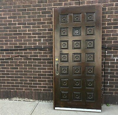 "ANTIQUE ENTRY WOOD DOOR 36 1/4"" x 80"""