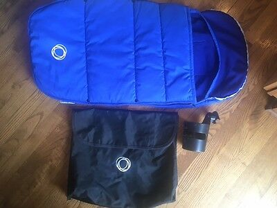 Pre-owned Bugaboo Stroller Footmuff BLUE Fits ALL Warm