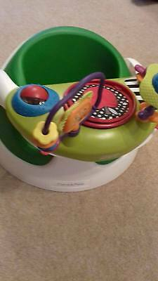 Mamas and Papas Snug Lime Green Seat with Activity Tray