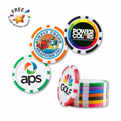 CASINO QUALITY POKER CHIPS - 100 quantity - Custom Printed with Your Logo