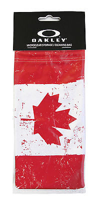 Brand New Oakley Canada Flag MicroBag Microclear Cleaning / Storage Bag