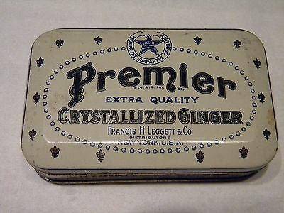 Vintage Premier Crystallized Ginger Tin: Francis H.Leggett New York