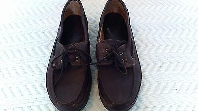 Brown All Leather Minnetonka Moccasins  Mens Loafers Boat Shoes Size 11 EXC