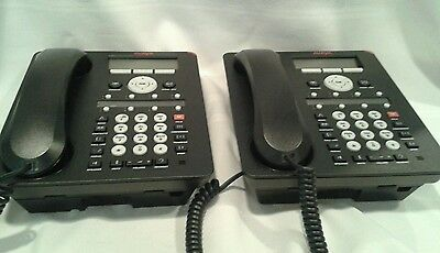 LOT 2 Avaya 1608-I IP VoIP Office Phones With Handsets And Stands