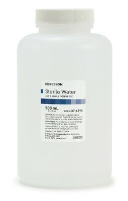 McKesson Irrigation Solution Sterile Water Not for Injection 500 mL Case of 18