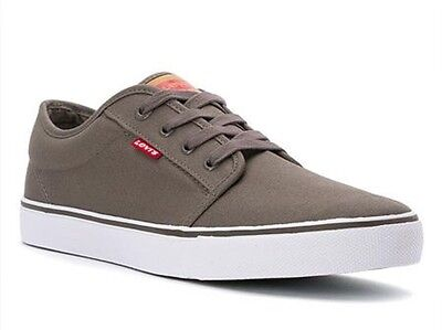 Levi's Porter Mens Gray Canvas Shoes Sneakers Shoe Size 10 M