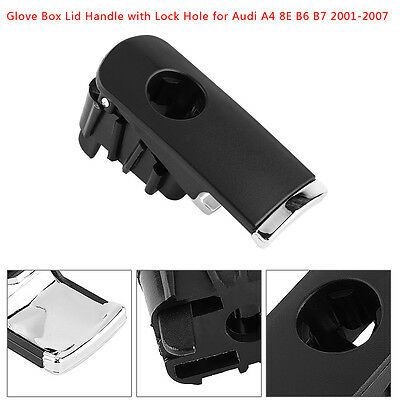 1Pc Black Glove Box Lid Handle w/Lock Hole For Audi A4 8E B6 B7 01-07 8E1857131