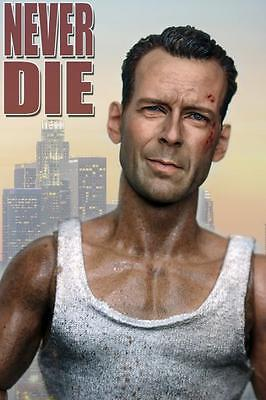 Custom 1/6 Scale Bruce Willis Head Sculpt For John Mcclane Die Hard Kit Bashin