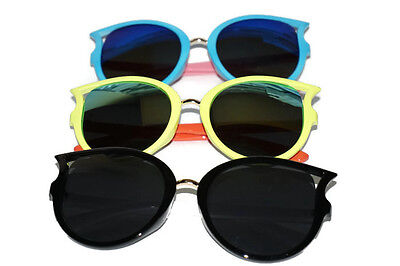 Cool Cat-Eye Kids Toddler Boys Girls Sunglasses Polarized Shades W/ Case