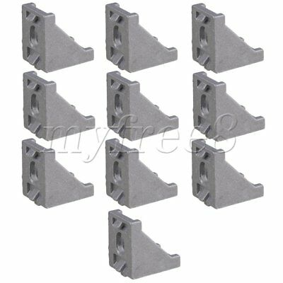 10 Pieces Furniture Fastener 90 Degree Brace Right Angle Bracket 28x28x20mm