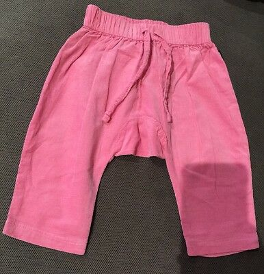 Bonds Pink Cord Harem Pants Size 00 Or 3-6 Months