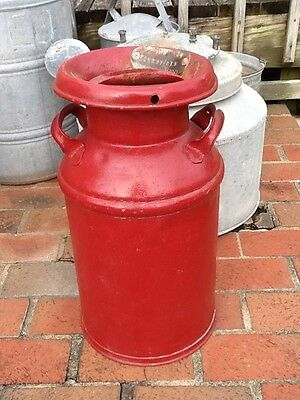 Antique Primitive Red Milk Can B&O No.14 Zanesville 1800 Page Dairy Collectable