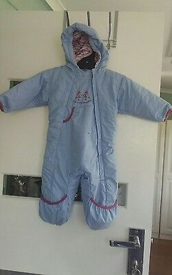 Baby pram suit. cosy 6-12 months Girl.