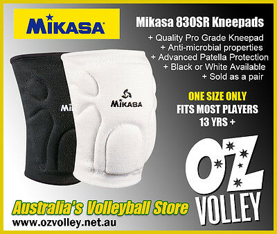 Mikasa 830SR Volleyball Competition Kneepads - Black or White - OzVolley