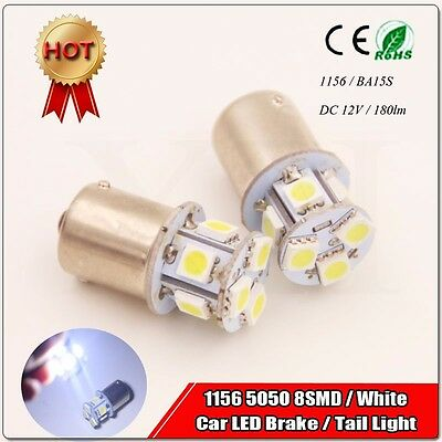 10PCS White 1156 BA15S LED RV Camper Trailer 1141 Interior Light Bulbs 5SMD 12V
