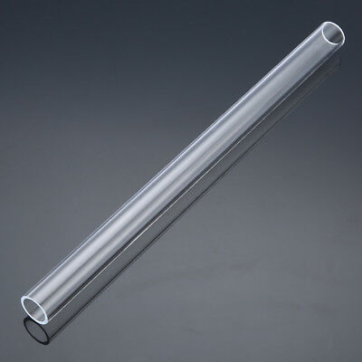 "Clear Acrylic Plexiglass Lucite Tube Pipe 11.8"" inch Long 0.787"" OD 0.63"" ID"