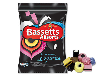 Bassetts Liquorice Allsorts 190g Bag Box of 12