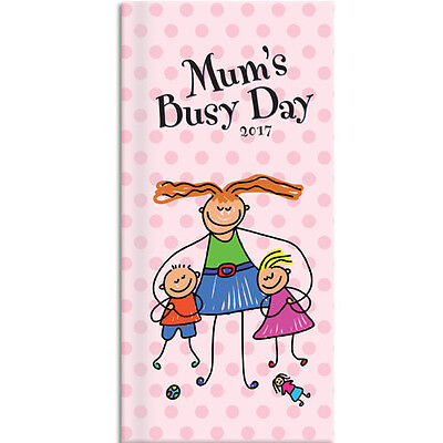 Mum's Busy Day 2017 Slim Pocket Diary NEW by Gifted Stationery