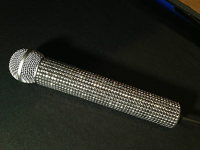 Silver Rhinestud Bling Wireless Microphone Sleeve by Blingcons