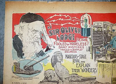 1915 San Francisco Sunday Magazine Page - Sir Oliver Lodge Fooled by Wireless